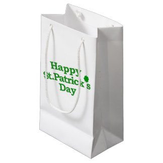 Happy St. Patrick´s Day Typographic Design Small Gift Bag