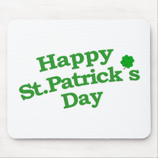 Happy St. Patrick´s Day Typographic Design Mouse Pad
