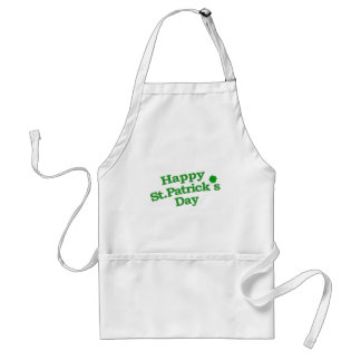 Happy St. Patrick´s Day Typographic Design Standard Apron
