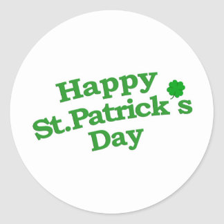 Happy St. Patrick´s Day Typographic Design Round Sticker