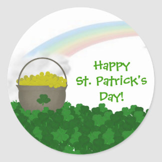 Happy St Patrick sDay Stickers
