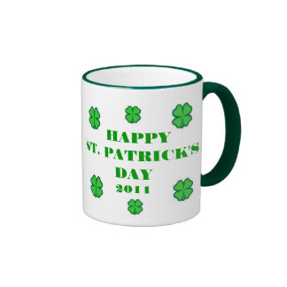 Happy St. Patrick's Day 2011 Ringer Mug