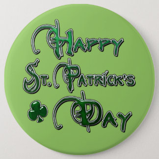 Happy St Patricks Day 6 Cm Round Badge
