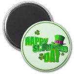 Happy St. Patrick's Day 6 Cm Round Magnet
