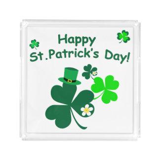 Happy St. Patrick's Day Acrylic Tray