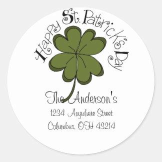 Happy St. Patrick's Day Address Labels