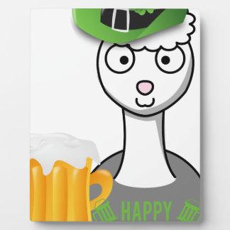 happy st patricks day alpaca plaque