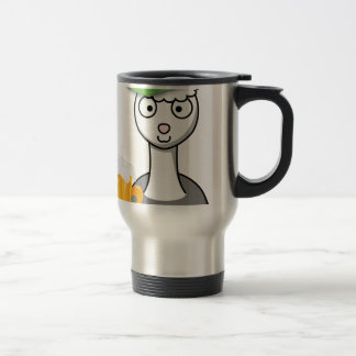 happy st patricks day alpaca travel mug