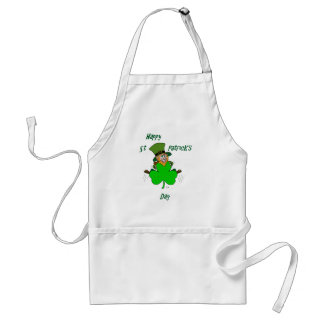 Happy St Patrick's Day Adult Apron