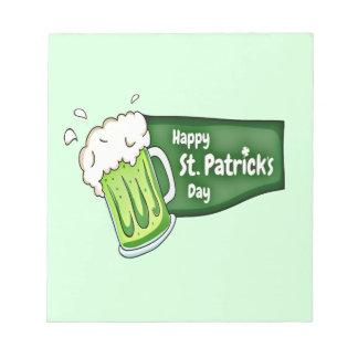 Happy St. Patricks Day Beer Notepad
