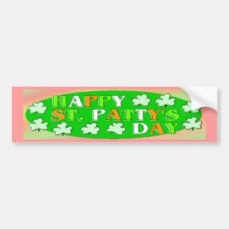 Happy St Patrick's Day Bumper Sticker