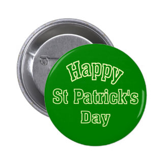 Happy St Patrick's Day Buttons