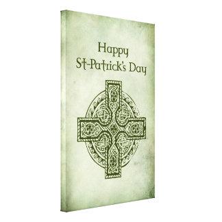 Happy St Patrick's Day.Celtic cross Canvas Prints