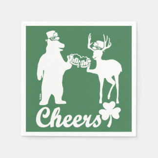 Happy St Patricks Day Cheers! Disposable Napkin