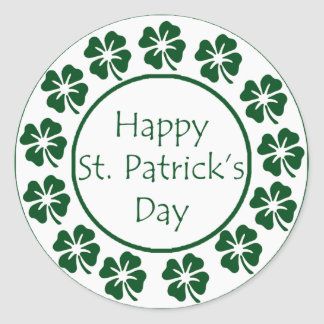 Happy St Patricks Day Classic Round Sticker