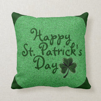 Happy St. Patrick's Day Clover Decorative Pillow