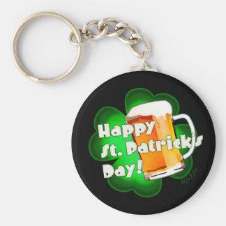 Happy St. Patrick's Day Clover & Mug Key Chain