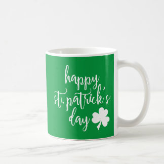 happy st. patrick's day coffee mug
