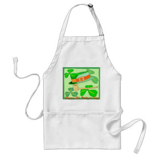 Happy St Patrick's Day Collage Standard Apron