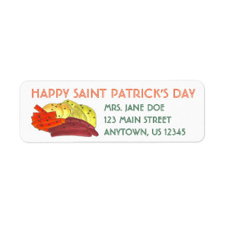 Happy St. Patrick's Day Corned Beef Cabbage Labels