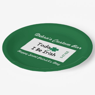 Happy St. Patrick's Day Custom Paper Plate