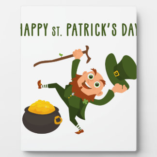 Happy St. Patrick's Day Display Plaques