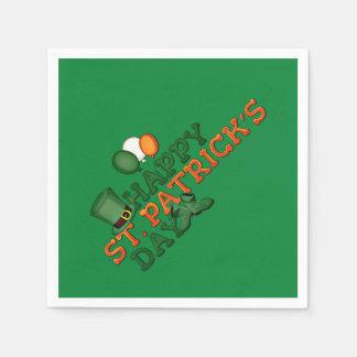 Happy St Patricks Day Embellished Disposable Serviettes