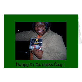 Happy St Patricks Day - funny card