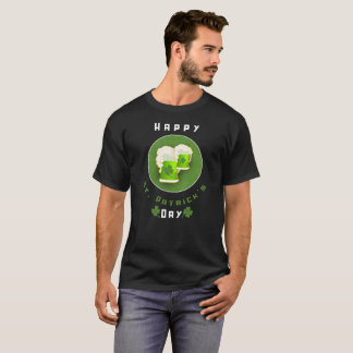 Happy St. Patrick's Day Green Beer 4 Leaf Clovers T-Shirt