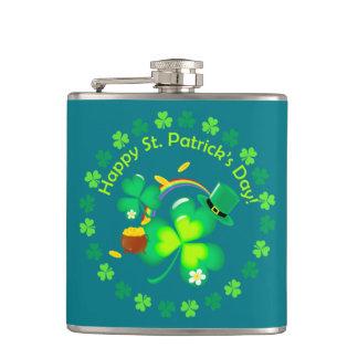 Happy St. Patrick's Day Hip Flask
