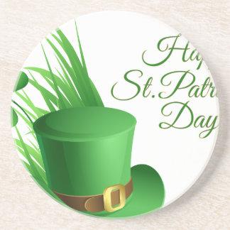 Happy St Patrick's day, holiday Irish hat saint Coaster