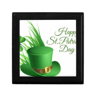 Happy St Patrick's day, holiday Irish hat saint Gift Box