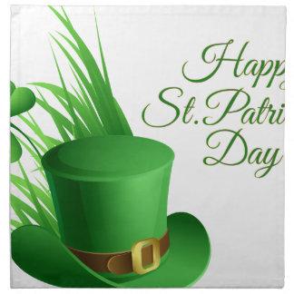 Happy St Patrick's day, holiday Irish hat saint Napkin