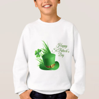 Happy St Patrick's day, holiday Irish hat saint Sweatshirt