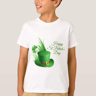 Happy St Patrick's day, holiday Irish hat saint T-Shirt