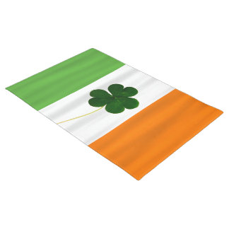 Happy St. Patrick's Day Irish Flag Shamrock Clover Doormat