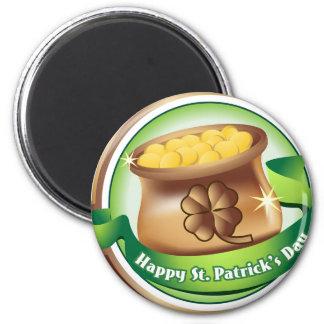 Happy St Patrick's day, Irish Saint Hat Holiday 6 Cm Round Magnet