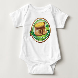 Happy St Patrick's day, Irish Saint Hat Holiday Baby Bodysuit