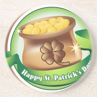 Happy St Patrick's day, Irish Saint Hat Holiday Coaster