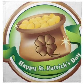 Happy St Patrick's day, Irish Saint Hat Holiday Napkin