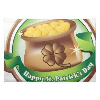 Happy St Patrick's day, Irish Saint Hat Holiday Placemat