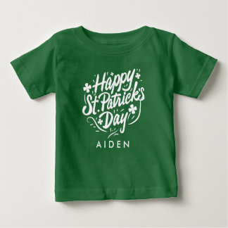 Happy St Patricks Day Irish Shamrock Personalized Baby T-Shirt