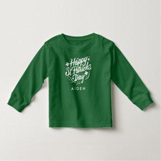 Happy St Patricks Day Irish Shamrock Personalized Toddler T-Shirt