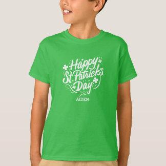 Happy St Patricks Day Irish Shamrocks Personalized T-Shirt