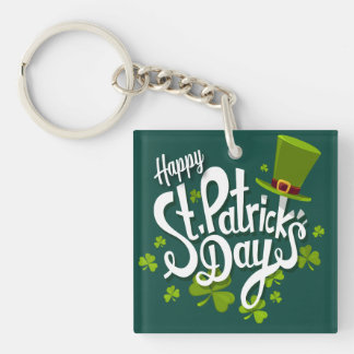 Happy St. Patrick's Day Keychain