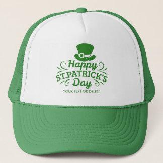 Happy St Patricks Day Leprechaun Hat Custom Text