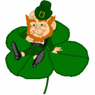 Happy St. Patrick's Day Leprechaun Photo Sculpture Badge