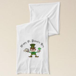Happy St. Patrick's Day Leprechaun Scarf