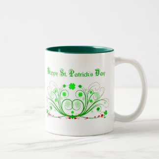 Happy St. Patricks Day Mug - Celtic Scrolls