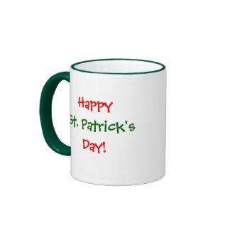 Happy, St. Patrick's , Day!-Mug Ringer Mug